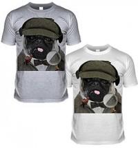Sherlock Pug Unisex T-Shirt sh