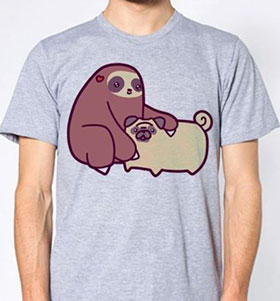Sloth Pug Unisex T-Shirt