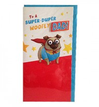 Super Dad Pug Birthday Card
