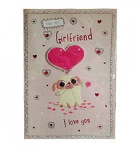 For My Girlfriend Pug Valentines Day Card