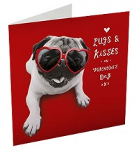 Pugs & Hearts Valentines Day Card