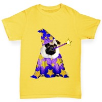Boys Pug Wizard T-Shirt (Available in Two colours)