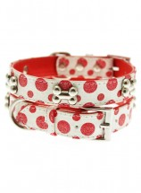 Urban Pup Red & White Polka Dot Collar