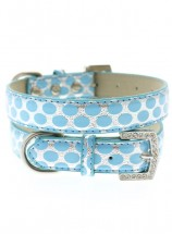 Urban Pup Silver & Blue Polka Dot Collar