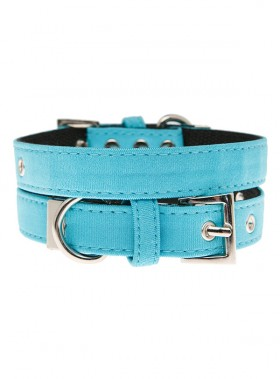 Urban Pup Neon Blue Fabric  Collar