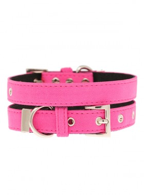 Urban Pup Neon Pink Fabric  Collar