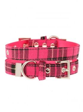 Urban Pup Pink Tartan Collar