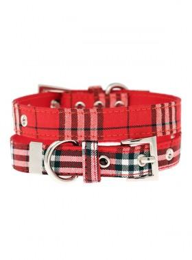 Urban Pup Red Tartan Collar