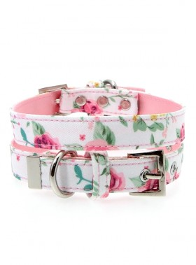 Urban Pup Pink Floral Cascade Collar