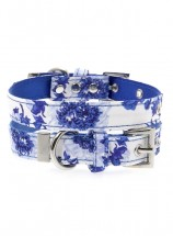 Urban Pup Blue Floral Bouquet  Collar