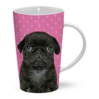 Black Pug Latte Mug