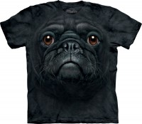 Child's Zoom  Black Pug Print T-Shirt
