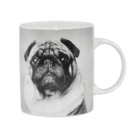Black & White Cute Pug Mug