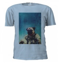 Unisex Astronaut Pug T-Shirt (Available in 8 colours)