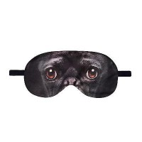 Black Pug Eye Mask