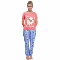 Pugs & Kisses Ladies Pug PJ Set