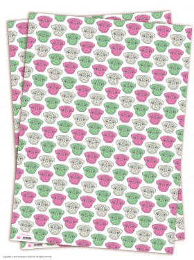 Pug Patterned Gift Wrap Sheets