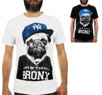 Bronx Pug Unisex T-Shirt (Available in 2 colours)