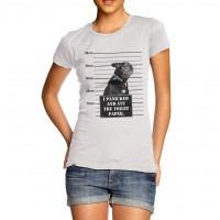 Black Pug I Panicked Ladies T-Shirt (Available in 2 colours)