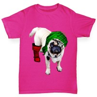 Girls One Eyed Pirate Pug T-Shirt(Available in Twos colours)