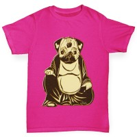 Buddha Pug Girls T-Shirt(Available in Three colours)