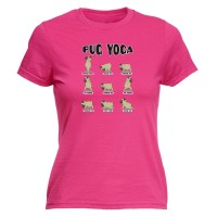 Ladies Fitted Pug Yoga T-Shirt (Available in 4 colours)