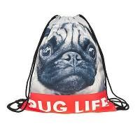 Pug Life Drawstring Bag