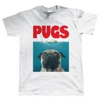 Unisex Jaws Pug T-Shirt