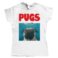 Ladies Jaws Pug T-Shirt