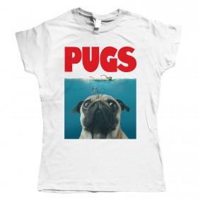 Ladies Jaws Pug T-Shirt
