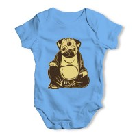 Blue Buddha Pug Baby Grow