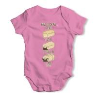 Pink Pug Loaf Baby Grow