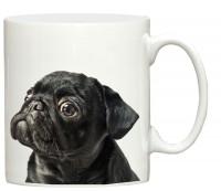 Cute Black Pug Mug