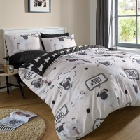 Pug Double Duvet Set