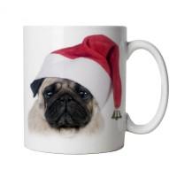 Bah Hum Pug Santa Mug