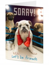 Pug & Bulldog Sorry Card