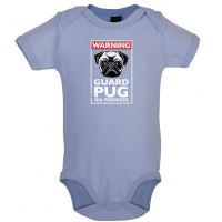 Blue Guard Pug Baby Grow