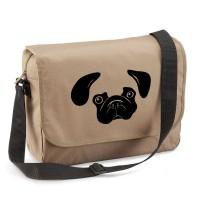Beiege Pug Messenger Bag