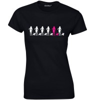 Ladies Pug Chain T-Shirt (Available in 5 colours)