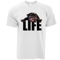 Unisex Black Pug Life T-Shirt
