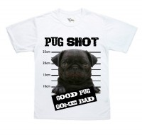 Kids Black Pug Gone Bad T-Shirt