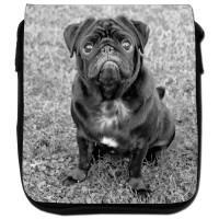 Ladies Black Pug Shoulder Bag