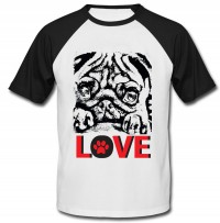 Sketched Style Pug Unisex T-Shirt