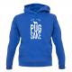 BLUE PUG HOODIE