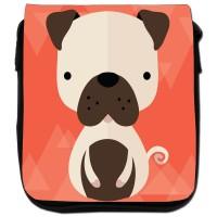 Small Cartoon Style Pug Canvas Shoulder Bag