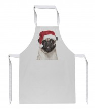 Pug Christmas Chef Apron