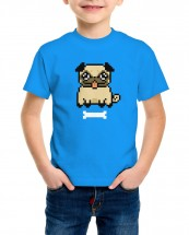 Kids Pixel Pug T-Shirt (Available in 5 colours)