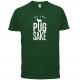 FOR PUG SAKE DARK GREEN TEE
