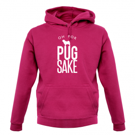For Pug Sake Unisex Hoodies (Available in 12 colours )