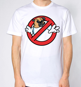 Ghostbuster's Pug Unisex T-Shirt (Available in 4 colours)
